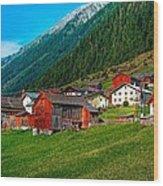 Austrian Village Wood Print