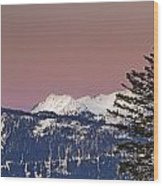 Austrian Winter Scenic Panorama Wood Print