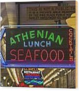Authentic Lunch Seafood Wood Print