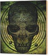 Authentic Skull Of The Vampire Callicantzaros Wood Print