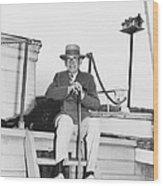 Author Booth Tarkington Wood Print
