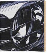 Auto Headlight 155 Wood Print