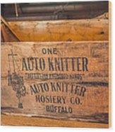 Auto Knitter Box Wood Print