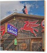 Auto Repair At The City Garage Wood Print