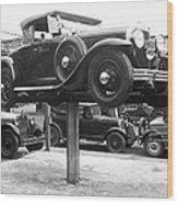 Auto Repair Shop Lift Wood Print