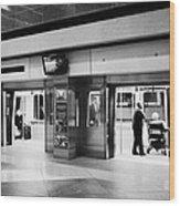 automated guideway transit system at Denver International Airport Colorado USA Wood Print by Joe Fox