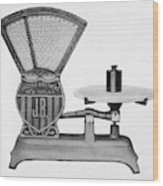 Automatic Computing Scale Wood Print