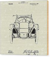 Automobile 1920 Patent Art Wood Print
