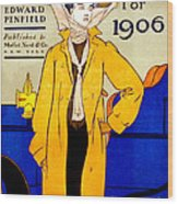 Automobile Calendar Advertisement 1906 Wood Print