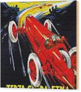 Automobile Club Catania Wood Print