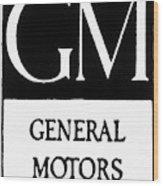 Automobiles Gm Logo Wood Print