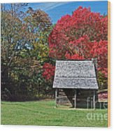 Autum For A Mountain Home Wood Print