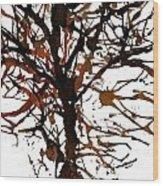 Autum Tree Wood Print
