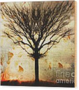Autum Wind Wood Print
