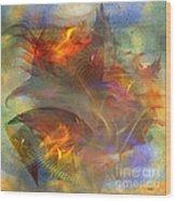 Autumn Ablaze - Square Version Wood Print