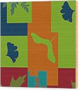 Autumn Abstract A La Matisse Wood Print
