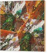 Autumn Abstract Wood Print