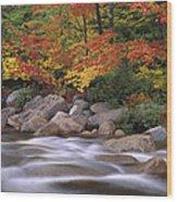 Autumn Along Swift River  Wood Print