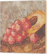 Autumn Apples Wood Print