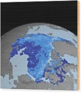 Autumn Arctic Sea Ice Thickness Wood Print