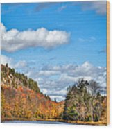 Autumn At Bald Mountain Pond Wood Print