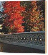 Autumn At Bow Bridge Wood Print