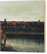 Autumn At Deer Lake Wood Print
