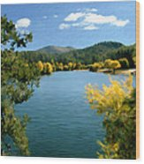 Autumn At Lynx Lake Wood Print