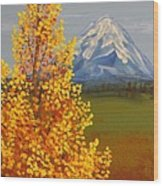 Autumn At Mt Shasta Wood Print