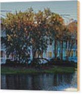 Autumn At Old Key West Resort Panorama Walt Disney World Wood Print