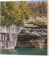 Autumn At Pictured Rocks Wood Print