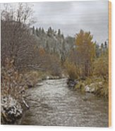 Autumn At Prickly Pear Creek Wood Print