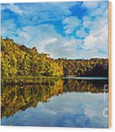 Autumn At Sailboat Cove Wood Print
