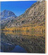 Autumn At Silver Lake Wood Print