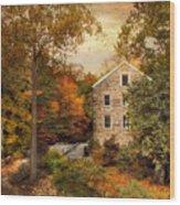 Autumn At Stone Mill Wood Print