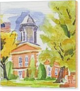 Autumn At The Courthouse Wood Print