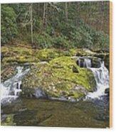 Autumn At The Falls Wood Print