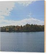 Autumn At The Lake Wood Print by Judy  Waller