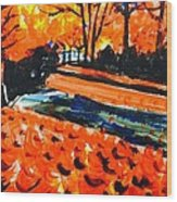 Autumn At The Park. Wood Print