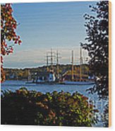 Autumn At The Seaport Wood Print