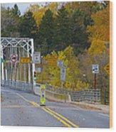 Autumn At Washington's Crossing Bridge Wood Print