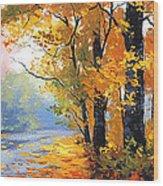 Autumn Backlight Wood Print