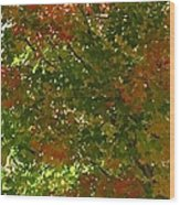 Autumn  Banner Wood Print