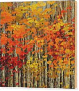 Autumn Banners Wood Print