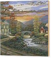 Autumn Barn Wood Print by John Zaccheo