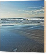 Relaxing Autumn Beach  Wood Print