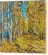 Autumn Beauty Wood Print
