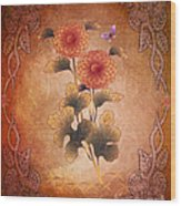 Autumn Blooming Mum Wood Print