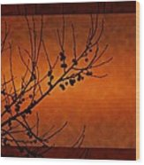 Autumn Branches Wood Print