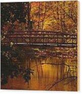 Autumn Bridge Wood Print